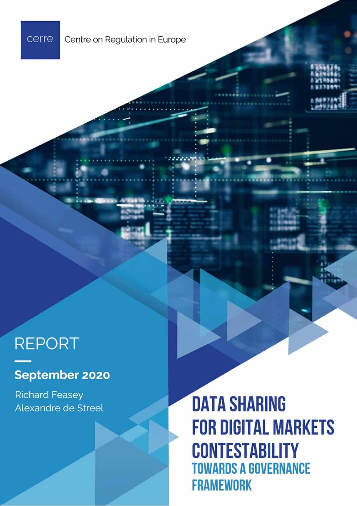 Data sharing for digital markets contestability: towards a new governance framework